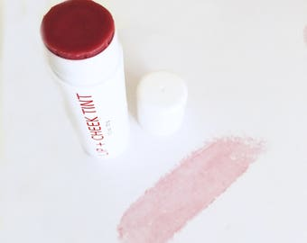 LIP + CHEEK TINT // 100% Natural Makeup Cosmetics Herbal Alkanet Beetroot Stain Lip Balm // Choose Size 4.25g or 15g