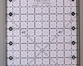 """Quilt Sense Finishing 5"""" x 16 3/4"""" Miter Ruler by Marti Michell 85025"""