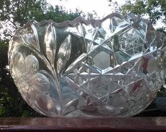 Vintage American Brilliant Period Cut Glass Bowl