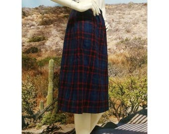 Pendleton A-Line Wool Flannel Skirt