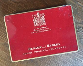 Benson and Hedges Cigarette Tin  - London