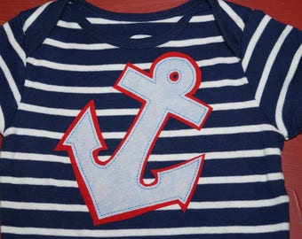 Patriotic Anchor Bodysuit