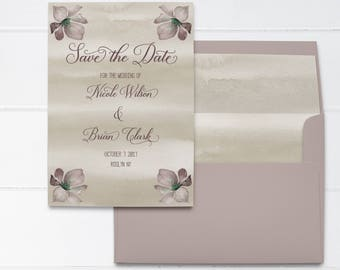 Rustic Save the Date Printable, Floral Save the Date Template, Printable Save the Date Rustic, Watercolor Save the Date Cards, Save Our Date