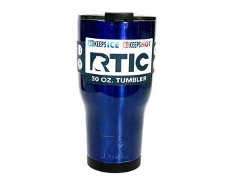 Powder coated 30 oz RTIC Tumbler | 30oz RTIC Tumbler | Candy Blue | Free Shipping