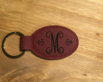 Laser engraved personalized key chain