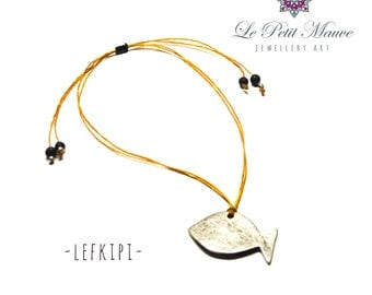 "Handmade Necklace: ""Lefkipi""."