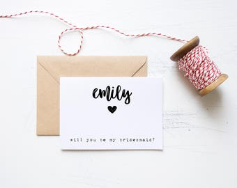 Will You Be My Bridesmaid? Printable Card Set // Printable Wedding Cards, Wedding Printables, Printable Cards, Wedding Proposal Ideas