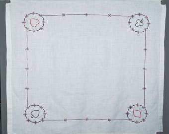 Child's Tea Tablecloth- linen