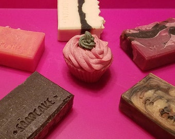 Set of 5 Soaps Your Choice / Handmade Cold Process Soap / Natural Oil Soap