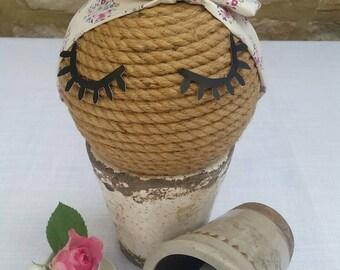 Childs Tilda Vintage Flower Fabric Headband