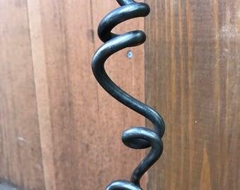 Decorative metal garden hook extender- Vine plant hook extender hand forged metal by Creative Metal