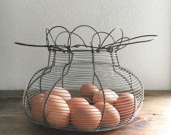 Vintage Egg Basket / Vintage Home / Antique Decor / Farmhouse / French Country