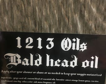 1212 Bald Head moisturizing Oil. 1 oz