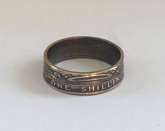 Silver Shilling Coin Ring
