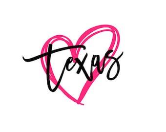 Texas Heart SVG