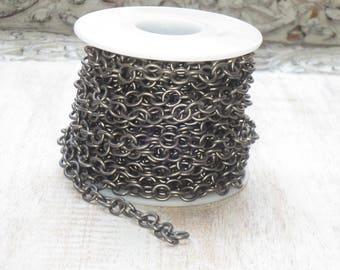 Small Heavy Matte Gunmetal Link Chain