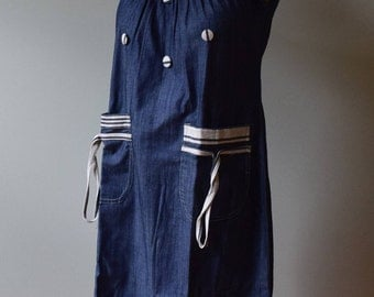 African Country Clothes Women's Denim Dress