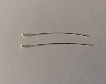 2 nails heads balls 50 * 0, 7mm 925 sterling silver