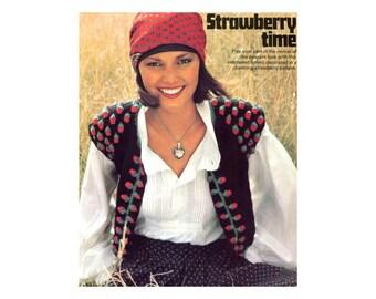 Strawberry Bolero Vest Crochet Pattern