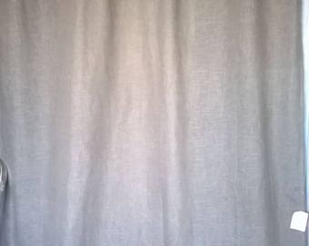 197R) large grey long curtain