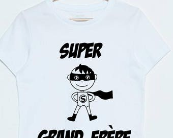 tee shirt super big brother announcement pregnancy, future big brother, superhero