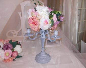 centerpiece candle holder shabby chic ceremony