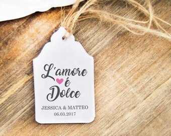 Labels love is sweet, Wedding Labels, custom labels for wedding favors, Wedding Tags