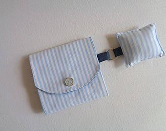 Sewing needle case clutch and stick pins with