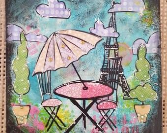 Mixed media mdf board art