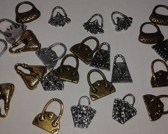 mix of handbag x 24 metal pendant