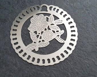prints 4 pendants steel 40mm stainless