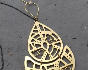 handmade,gift for her,unique,silver,chain,pendant,christmas gift,one of a kind,gold platted,boho,arabesque,necklace,gift,statement,style