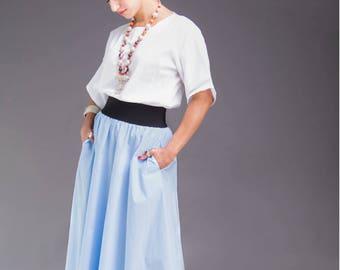 White blouse, white cotton top, white summer top, white blouses for women, wide sleeve shirt, kimono sleeve top, minimalist top, cotton top
