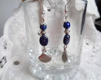 Lapis lazuli earrings,dangling earrings,gift for Her,