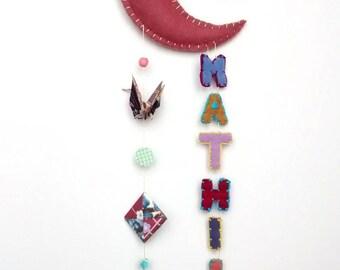 Mobile pink Moon - birthday gift