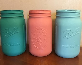 Southwest Inspired Mason Jar Set-- Quart Sized