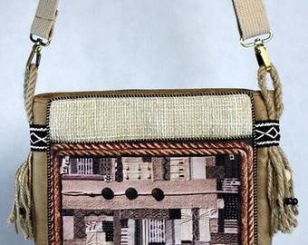 Boho handbag, Vegan purse, Bohemian shoulder bag, Hippie crossbody bag, Sac a main, Gift for mom, Bags and purses