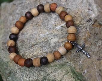 Old Rugged Cross Bead Braclet