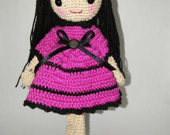 Crochet Doll Leila, customized, made to order