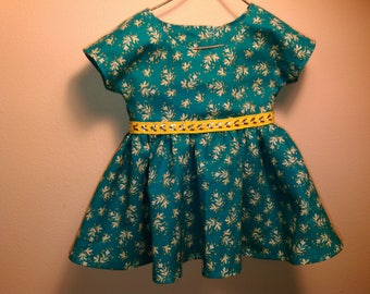 Turquoise dress 18 in Doll