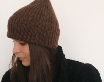 Knit Hat  - Beanie - Ribbed Hat - Woolly