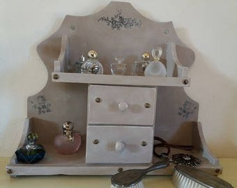 Weathered old table dressing table - 2 drawers