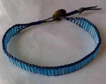 Light blue wrap style bracelet