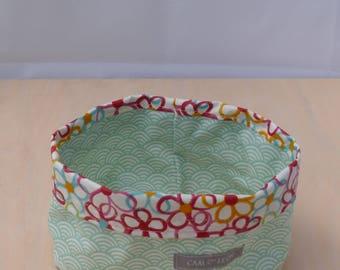 Reversible fabric storage basket coated (small)