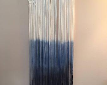 Dip Dye Macrame Wall Hanging Large