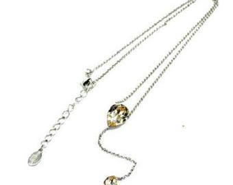 Necklace with a silver chain