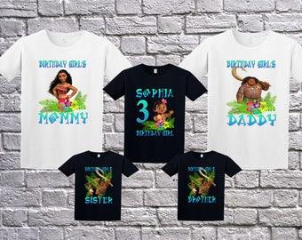 Custom Moana Birthday Shirt, Birthday T-Shirt, Custom Moana Shirt, Personalized Moana Apparel, Moana Shirt, Maui Shirt, Moana Birthday Party