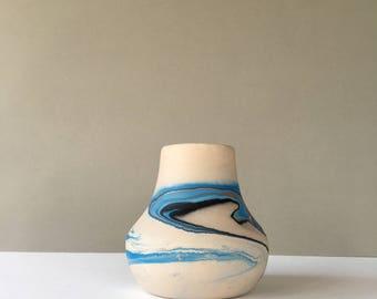 Vintage Nemadji Pottery Vase, Art Potter, Boho Decor, Southwestern