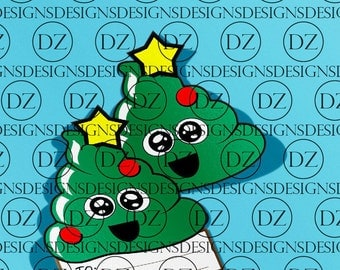 Poop Emoji CHRISTMAS TREE! 2 for price of one! -for Vinyl Cutters - Digital Download -svg - svg files