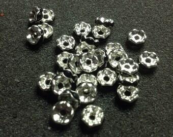 Black Silver Metal Rondels